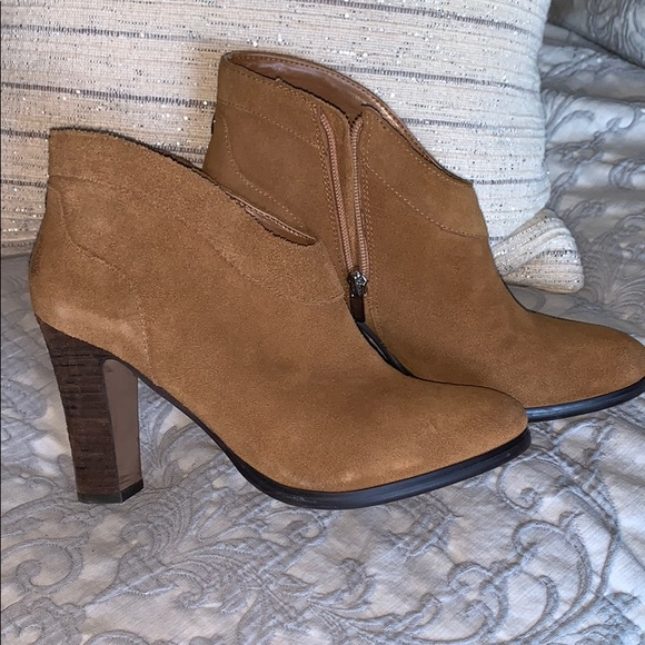 Crown Vintage camel colored zippered bootie